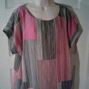 Worthington multi color women's blouse